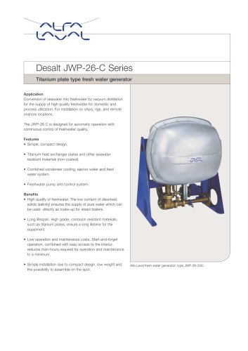 JWP freshwater generator:Desalt JWP-26-C Series