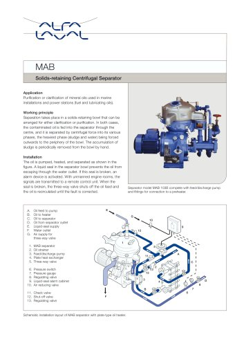 MAB Solids-retaining Centrifugal Separator