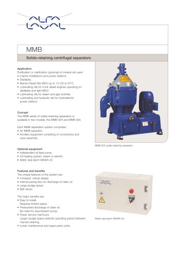 Oil cleaning - MMB and MAB/MMB