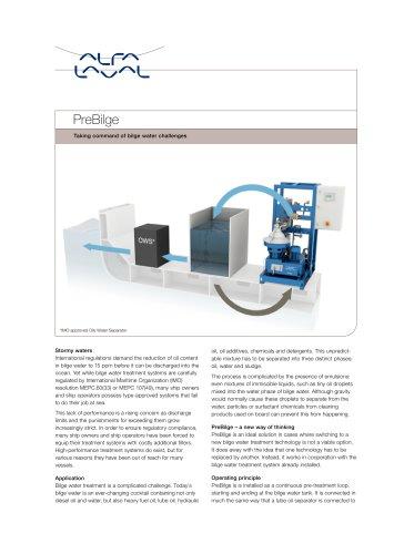 Oliy water pre-treatment - PreBilge