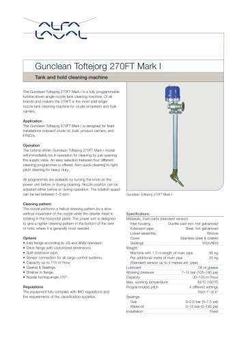 Tank and hold cleaning machine