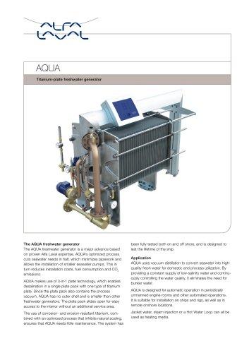 Titanium-plate freshwater generator