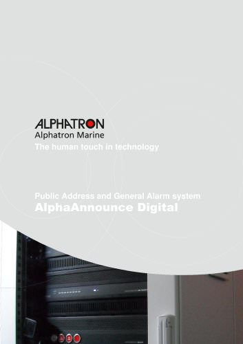 Alpha Announce Digital