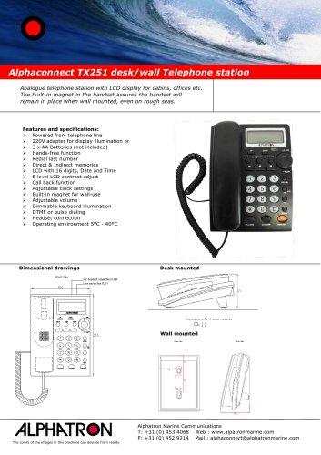 Alphaconnect TX250/ TX251