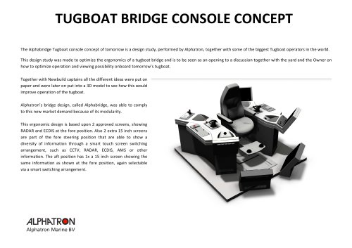 Tugboat bridge console