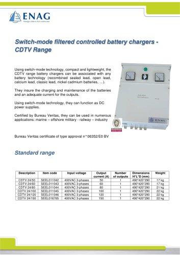 BATTERY CHARGER THREE PHASE 24VDC – CDTV RANGE