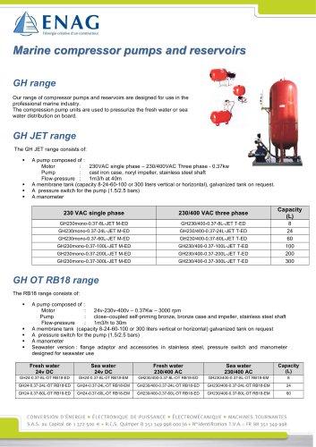 Compression pump unite AC or DC