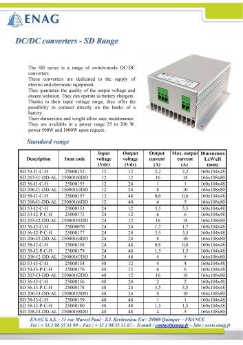 DC/DC converters - SD Range