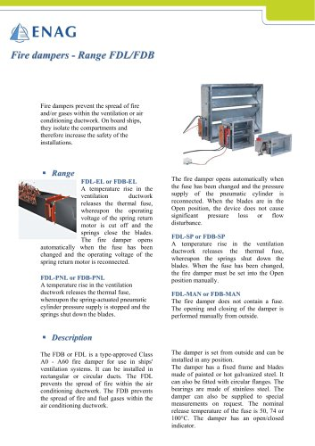 Fire and gas marine approval dampers