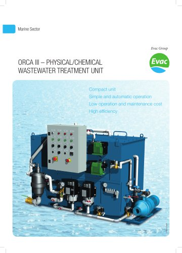 ORCA III ? PHYSICAL/CHEMICAL WASTEWATER TREATMENT UNIT