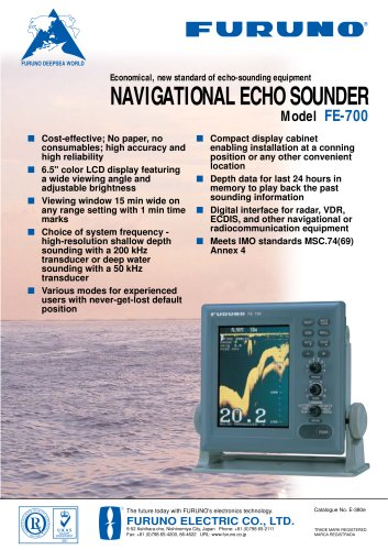echo sounder for ships FE-700