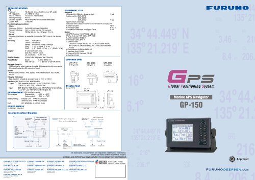 monochrome GPS for ships GP-150