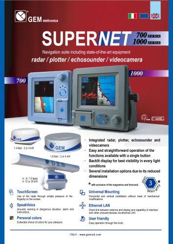 Echo sounder for ships SUPERNET  700 PDF