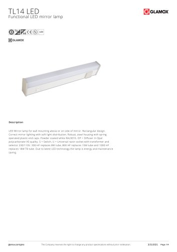 TL14 Universal luminaire for marine environment