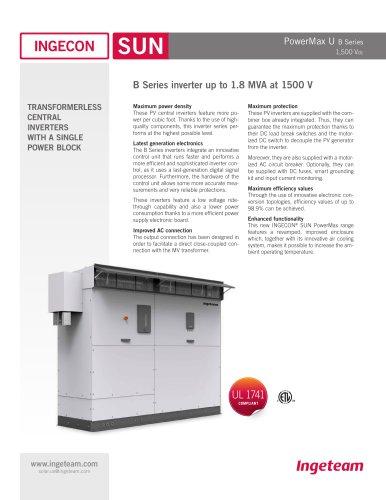 1500Vdc B Series