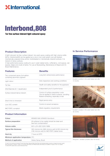 Interbond 808 - International Marine - PDF Catalogs