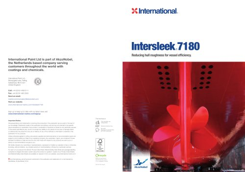 Intersleek7180Brochure