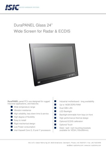 DuraPANEL Glass 24""