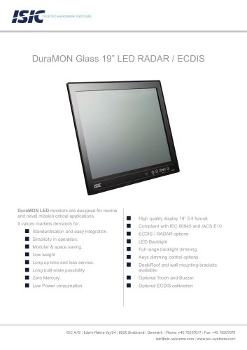 "MONITOR 19"" LED GLASS"