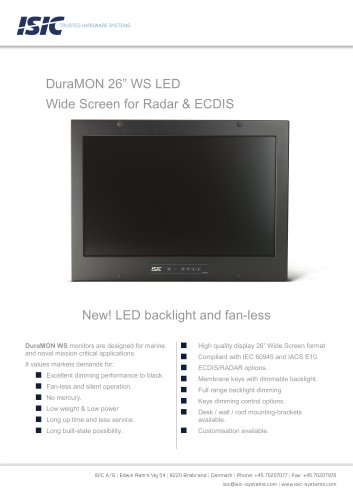 MONITOR 26″ WS LED