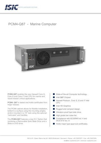 PCM4-Q87 - Marine Computer