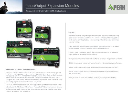 Input/Output Expansion Modules