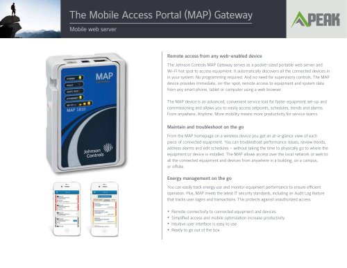 The Mobile Access Portal (MAP) Gateway
