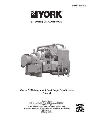 Model CYK Compound Centrifugal Liquid Units Style G