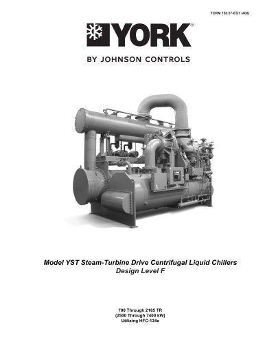 Model YST Steam-Turbine Drive Centrifugal Liquid Chillers Design Level F