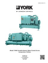 Model YVWA Variable-Speed, Water-Cooled Screw Compressor Chillers - 1