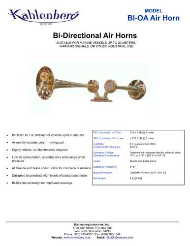 BI-0A Industrial Air Horn