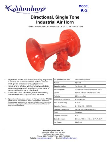 K-3 Industrial Air Horn
