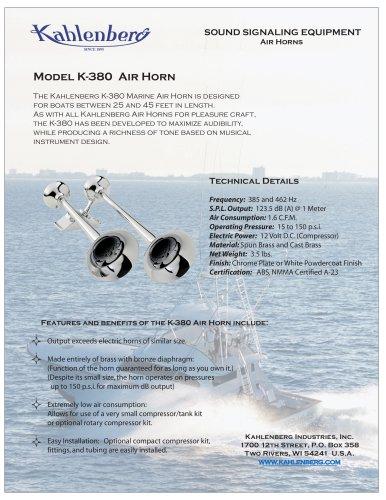 Model K-380 Air Horn