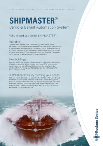 SHIPMASTER® Cargo & Ballast Automation System