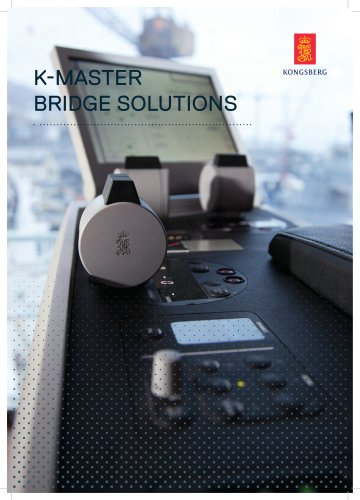 K-Master The complete aft & nautical bridge solution