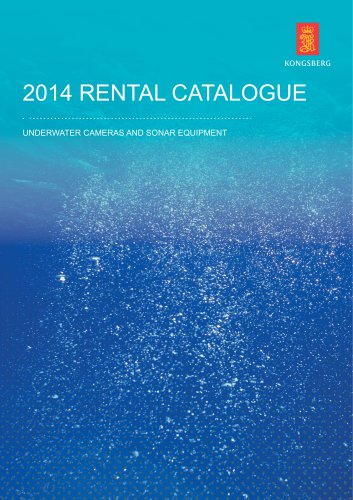 Kongsberg Underwater Camera and Sonar Equipment Rental Catalogue 2014
