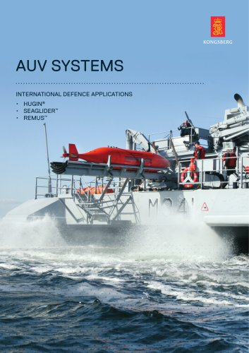 Naval AUV product range