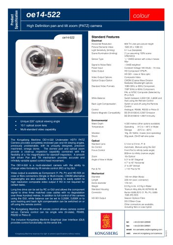 OE14-522 - High Definition Pan and Tilt Zoom (PATZ) Camera