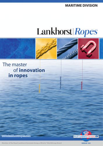 Lankhorst Ropes-Maritime Division catalogue