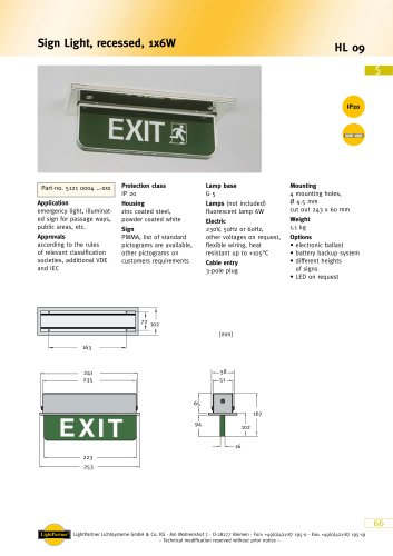emergency exit light sign for ships