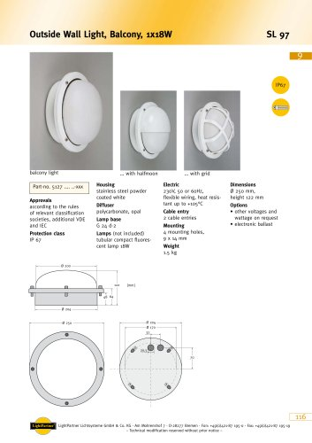 SL 97 Outside Wall Light