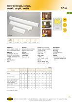 SP66 Mirror Luminaire, surface 1x 11 W / 1x 15 W / 1x 18 W