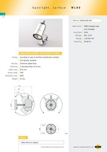 WL80 Halogen Spotlight with switch, max. 35 W