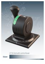 LF70 Azimuth control lever