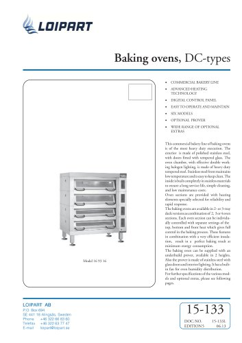 Baking ovens, DC-types