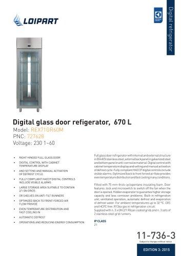 Glass Door Refrigerator 670L