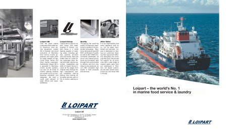 Loipart - World's No 1 in Marine Food Service and Laundry