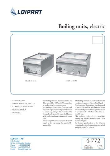 Marine Boiling Unit Model no. 169633
