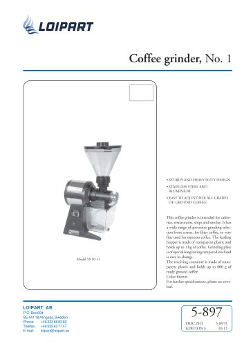 Marine Coffee Grinder (No. 1)