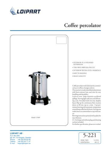 Marine Coffee Percolator 55 Cup